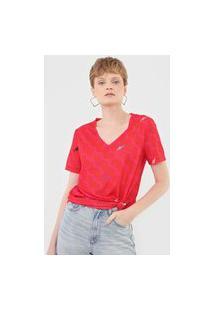 Camiseta Cantão Azulejo Vermelha/Rosa