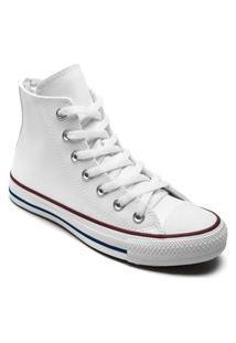 Tênis Converse All Star Chuck Taylor New Malden Hi Branco Vermelho Ct04510001