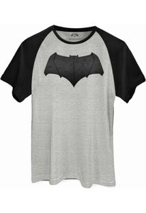 Camiseta Raglan Dc Comics Batman Vs Superman Logo Batman Bandup! - Masculino