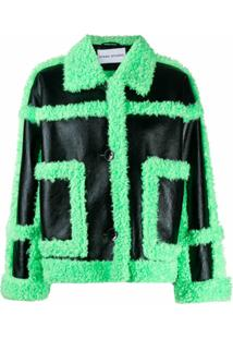 Stand Studio Fay Faux-Fur Jacket - Verde