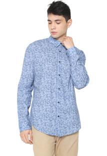 Camisa Osklen Reta Rose Azul