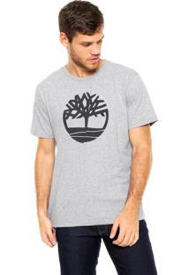 Camiseta Timberland Estampada Cinza