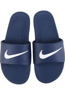 ... Sandália Nike Kawa Slide Masculina - Masculino-Branco+Azul 86e2ae9437f40