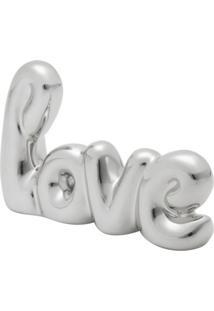 Palavra Decorativa Love Prateada 8X1,5X12,5
