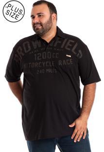 Camisa Polo Konciny Plus Size Preto