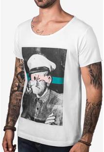 Camiseta Hermoso Compadre Velho Popeye Masculina - Masculino-Branco