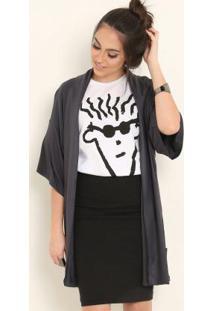 e9d7004398c059 Posthaus Kimono Com Capuz Cinza Fido Dido