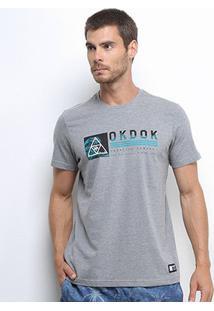 Camiseta Okdok Classic Beach Masculina - Masculino-Cinza