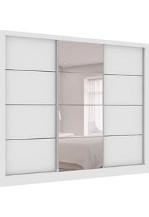 Guarda-Roupa Casal Com 1 Espelho Siena City 3 Pt 4 Gv Branco