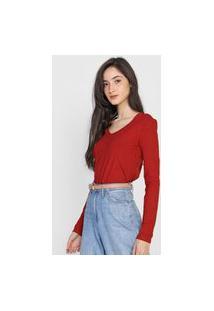Blusa Lunender Canelada Vermelha