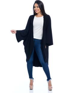 Cardigan Kimono B'Bonnie Esther Preto - Tricae