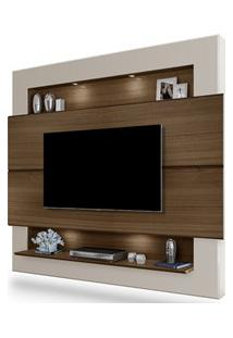 Painel Home Suspenso Para Tv Até 60 Pol. Riviera Amêndoa/Off White - M