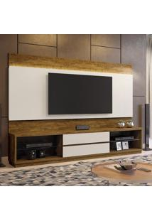 Estante Home Theather P/ Tv Até 65 Polegadas Istambul - Mavaular Canion/Off White