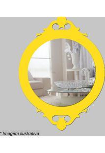 Espelho Retro- Espelhado & Amarelo- 30X22X5Cm- Ccia Laser