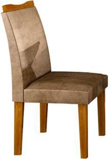 Cadeira Pampulha 2 Peças - Imbuia Com Tecido Animale Capuccino