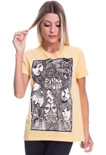 Camiseta Jazz Brasil Pink Floyd Face Amarela - Kanui