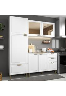 Cozinha Completa 3 Peã§As Americana Multimã³Veis 5903 Branco - Branco/Incolor - Dafiti