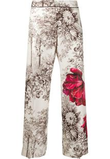 F.R.S For Restless Sleepers Floral Print Trousers - Neutro