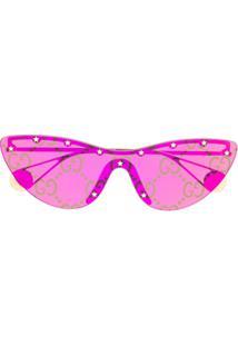 Gucci Eyewear Óculos De Sol Gatinho - Rosa