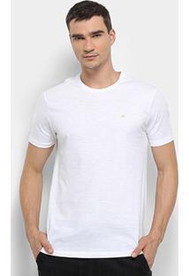 Camiseta Calvin Klein Slim Careca Flame Masculina - Masculino