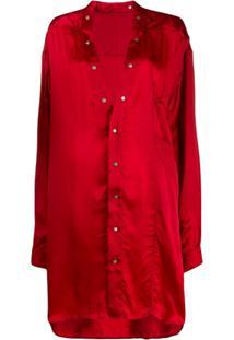 Rick Owens Camisa Túnica - Vermelho