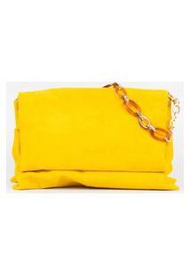Bolsa Floofy Couro Amarelo Cbk