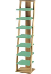 Prateleira Suspensa Stairway 1132 Palha/Verde Anis - Maxima