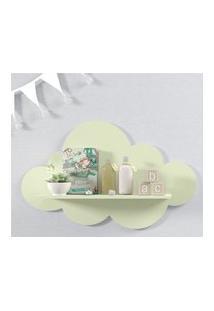 Prateleira Nuvem Verde Quarto Bebê Mdf G 60Cm Gráo De Gente Verde