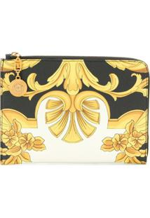 Versace Clutch 'Barocco' De Couro - Amarelo