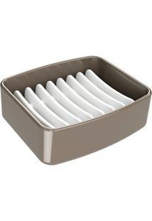 Saboneteira De Plástico Splash 9,2X8Cm Warm Gray