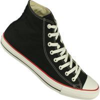 Tênis Converse All Star Chuck Taylor Cano Alto - Masculino-Preto+Vermelho edabfff8b5e98