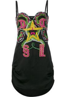 Diesel Embellished Mini Dress - Preto