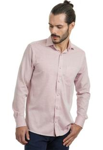 Camisa Di Sotti Comfort Xadrez Rosa - Masculino