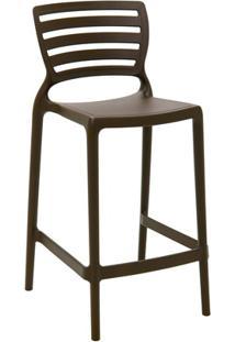 Cadeira Alta Em Polipropileno Sofia 93,5X48X47Cm Marrom