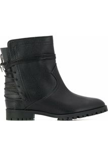 Aquazzura Ankle Boot Com Aplicações - Preto