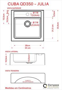 Conjunto Para Banheiro Gabinete Com Cuba Q35 E Prateleira 605W Metrópole Compace Preto Onix