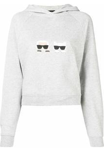 Karl Lagerfeld Blusa De Moletom 'Ikonik' - Preto