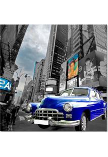 Quadro Impressão Digital Carro Azul 45X45 Uniart
