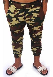 Calça Pormenor Camuflada Slim - Masculino