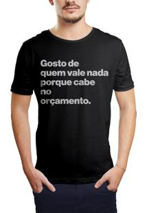 Camiseta Hunter Gosto De Quem Vale Nada Preta