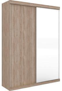 Guarda-Roupa Virtual 1,76 Com 2 Portas Correr Com Espelho Cedro Robel