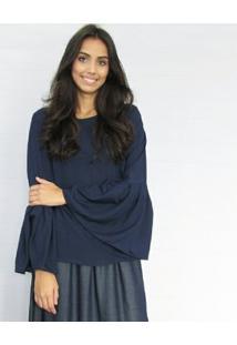 Blusa Fernanda Almeida Sophia - Feminino-Azul Escuro