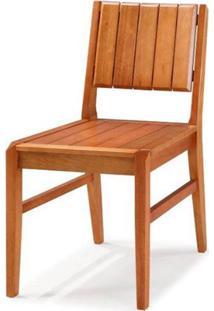 Cadeira Salvador Verniz Jatoba Encosto Ripado 43Cm - 40725 - Sun House