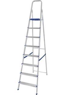 Escada Alumínio 8 Degraus - Unissex