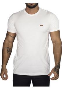 Camiseta Vk By Vk Básica Gola Redonda Off White