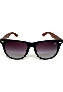 Óculos Cayo Blanco De Sol Bamboo Special Line Masculino - Masculino-Preto