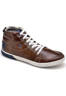Sapatênis Top Franca Shoes Casual - Masculino-Café