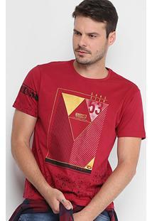 Camiseta Gangster Respingos Estampa Geométrica Masculino - Masculino