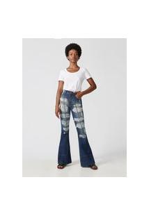 Calça Boca De Sino Bricklane- Amapô Jeans