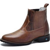 beb6c9920ea69 Bota Country Over Boots Bico Redondo Couro Tabaco
